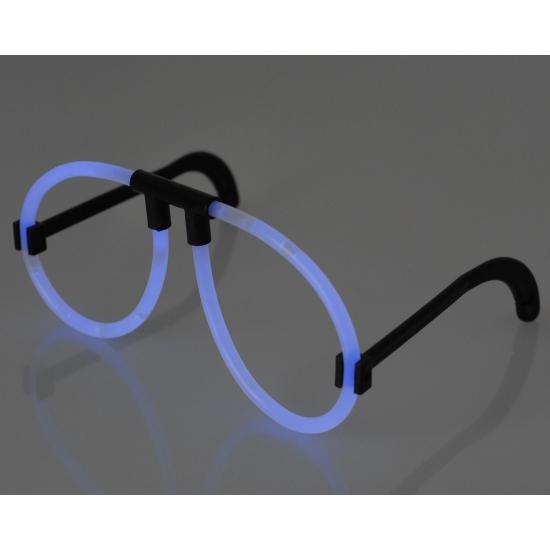 Neon glow blauwe bril