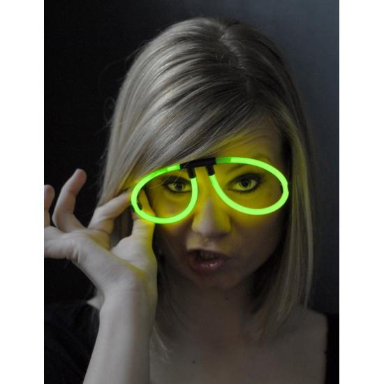 Neon glow groene bril