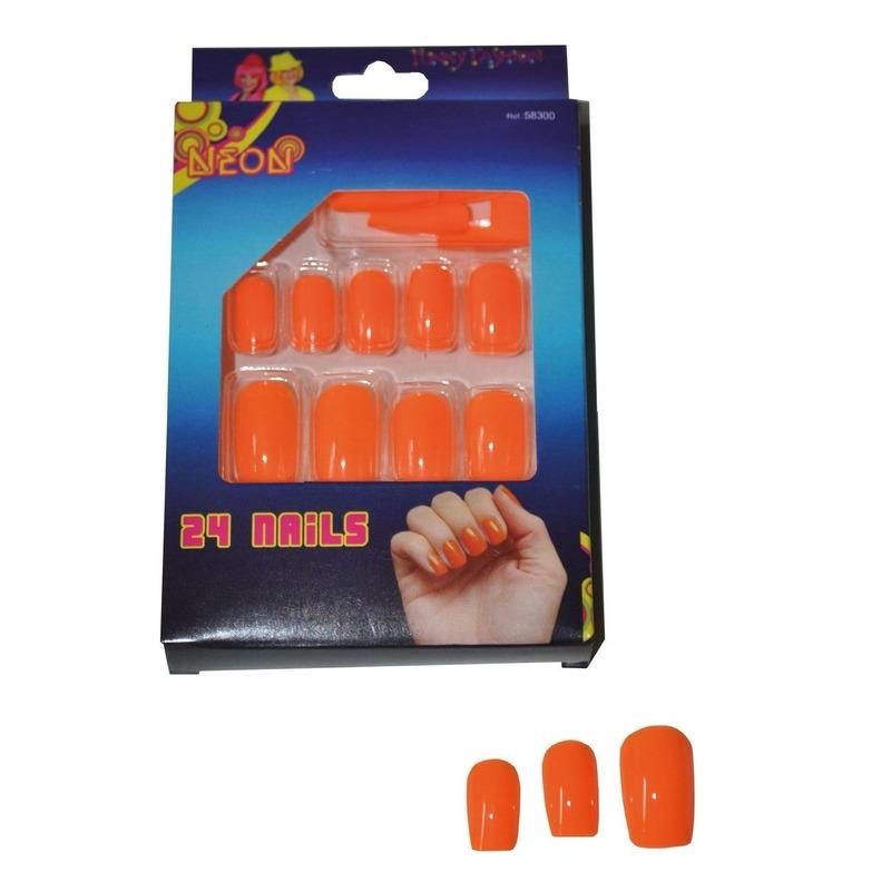 Nepnagels in het neon oranje