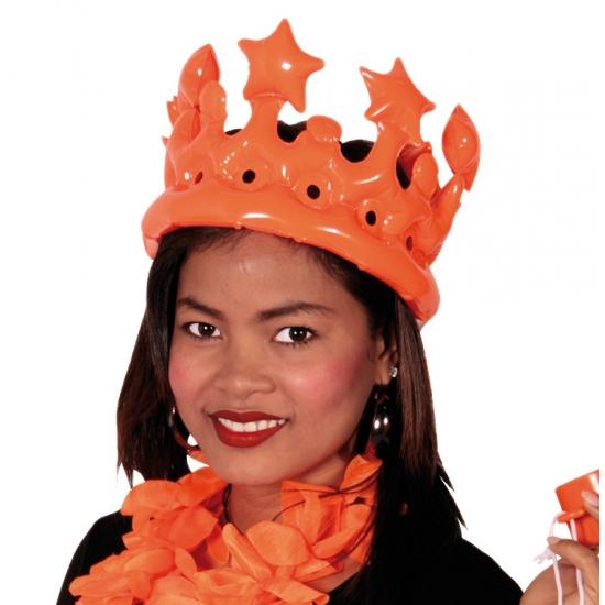 Oblaasbare oranje kronen