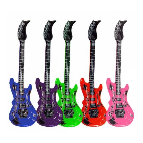 Opblaas gitaar blauw 55 cm