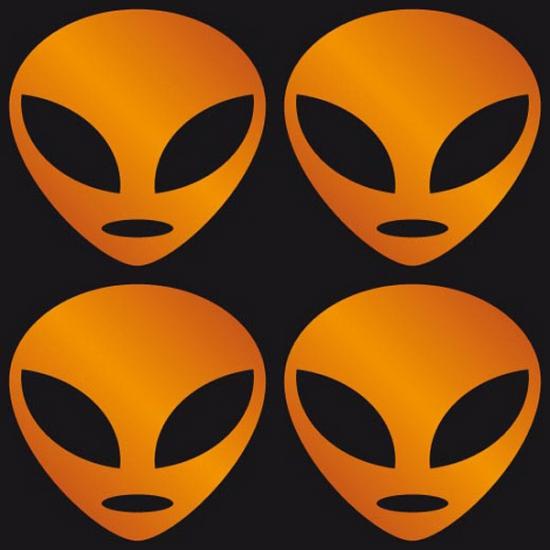 Opvallende stickers oranje Alien