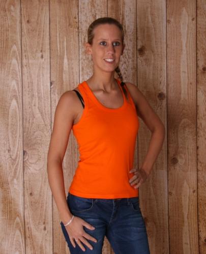 Oranje dames tanktops