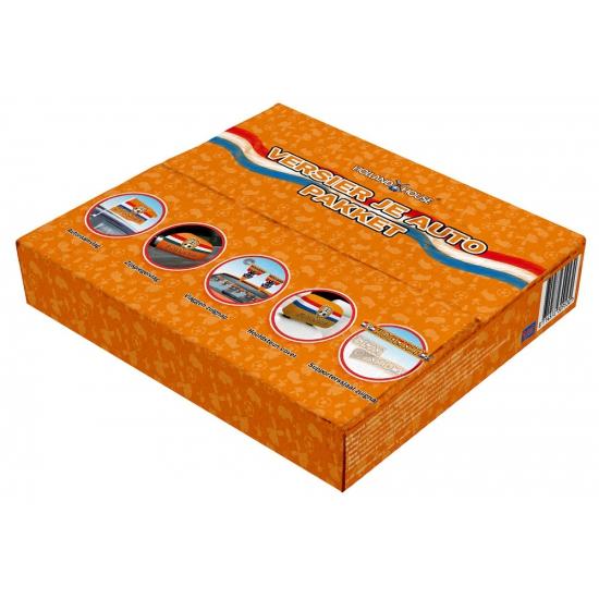 Oranje decoratiebox voor de auto