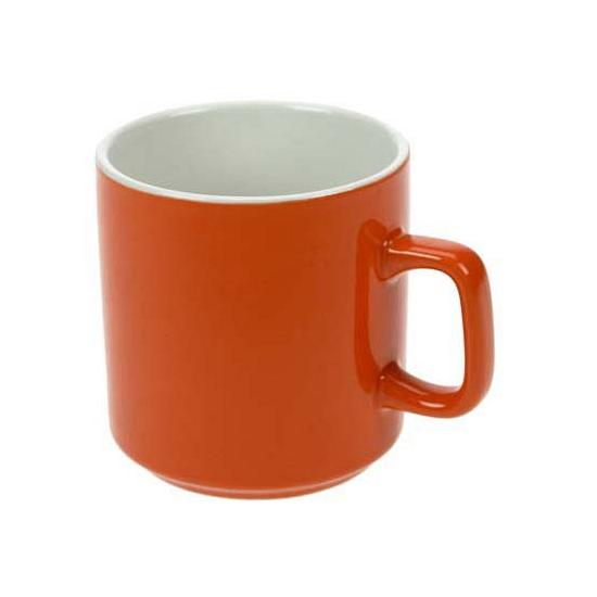 Oranje drinkbeker met oor