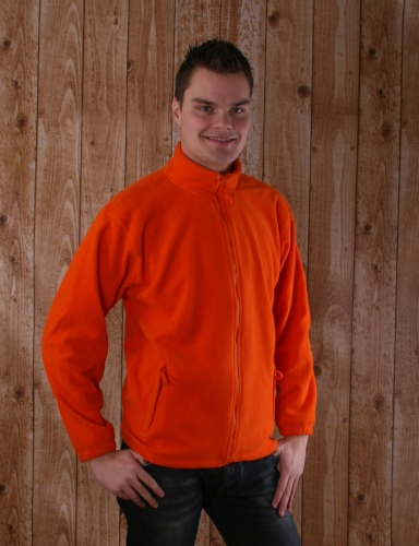 Oranje fleece vest  volwassenen