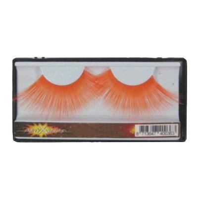 Oranje gekleurde plak wimpers