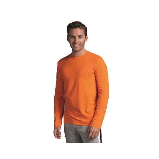 Oranje heren shirt met lange mouwen