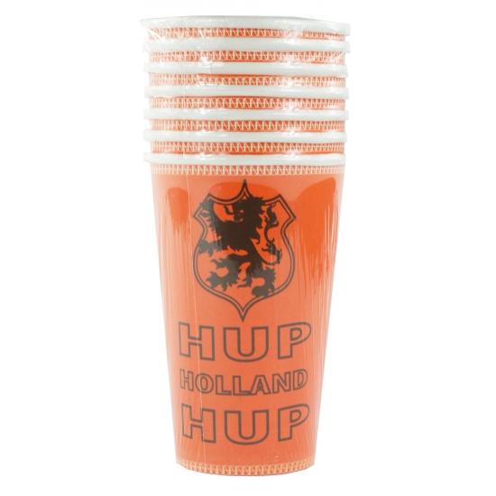 Oranje Holland bekers 8 stuks