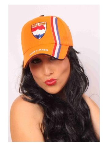 Oranje Holland pet met rood wit blauw
