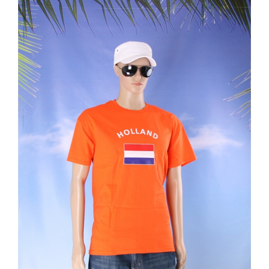 Oranje holland vlaggen t shirts