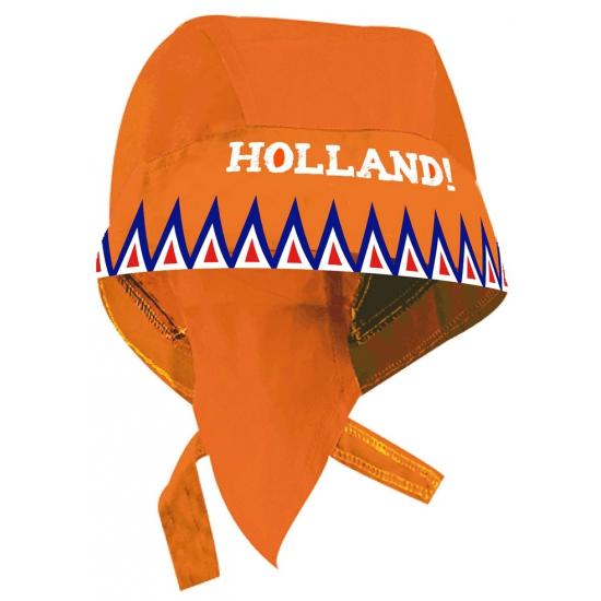 Oranje hoofddoek met de tekst Holland