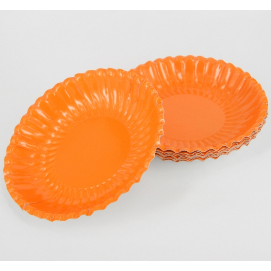 Oranje kartonnen schaaltjes 10 stuks