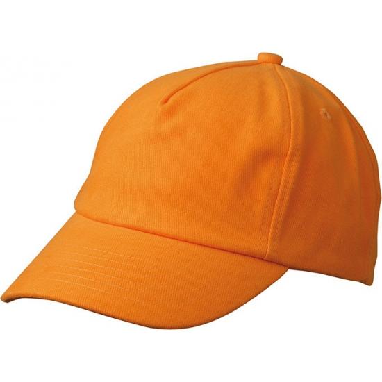 Oranje kinder baseballcaps
