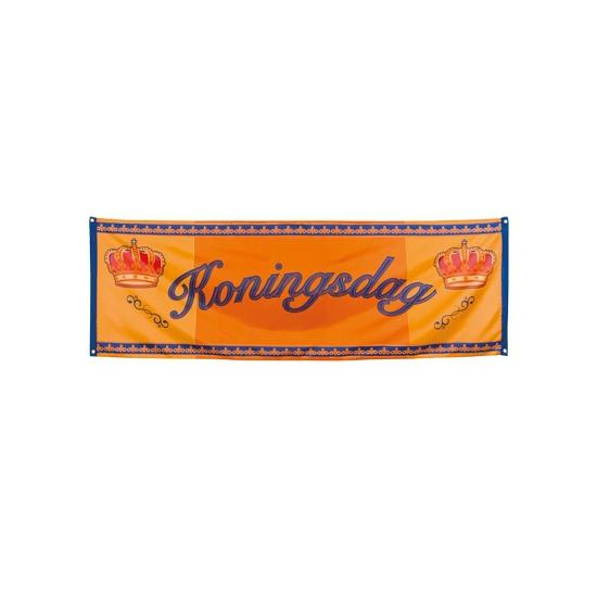 Oranje Koningsdag banner 220 cm