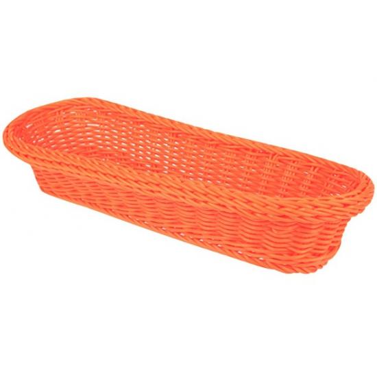 Oranje opberg mandje 37,5 cm