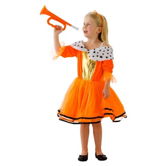Oranje prinsessen jurk voor meisjes