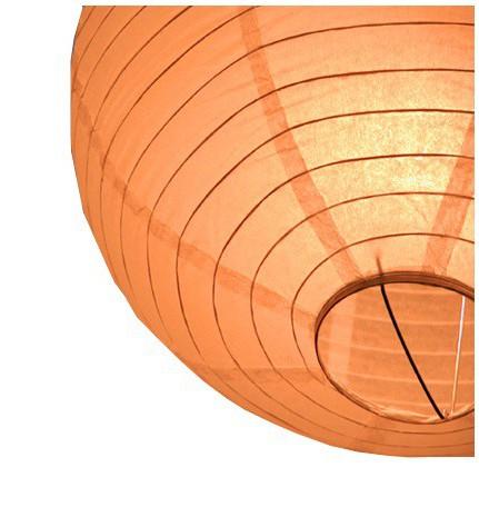 Oranje ronde lampion 25 cm