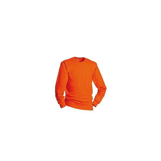 Oranje shirts met lange mouwen