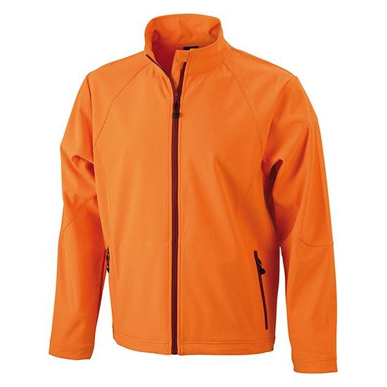 Oranje softshell jas voor heren