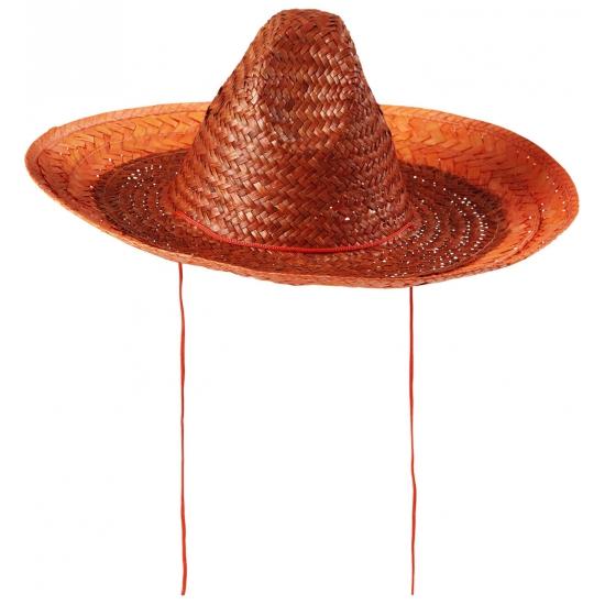 Oranje sombrero 48 cm