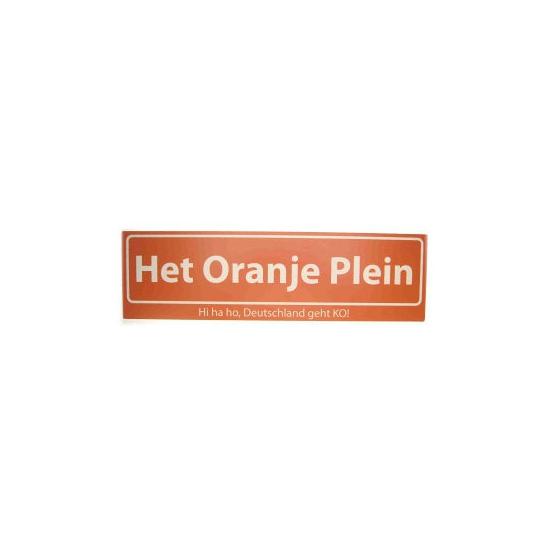 Oranje straatbordjes Hi Ha Ho Deutschland geht K.O