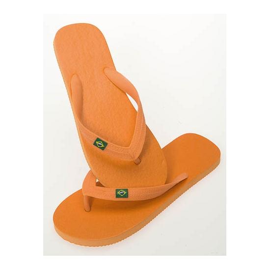 Oranje strand slippers voor dames
