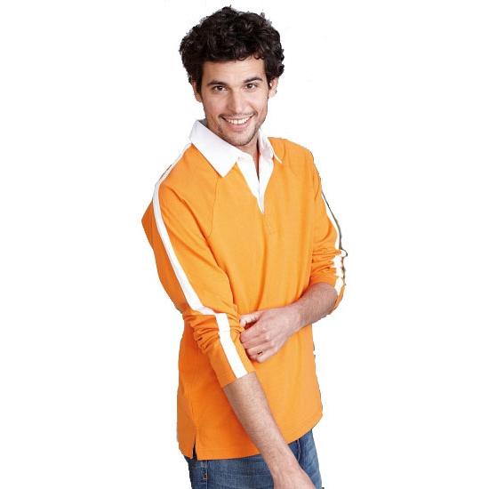 Oranje supporter poloshirt Kariban