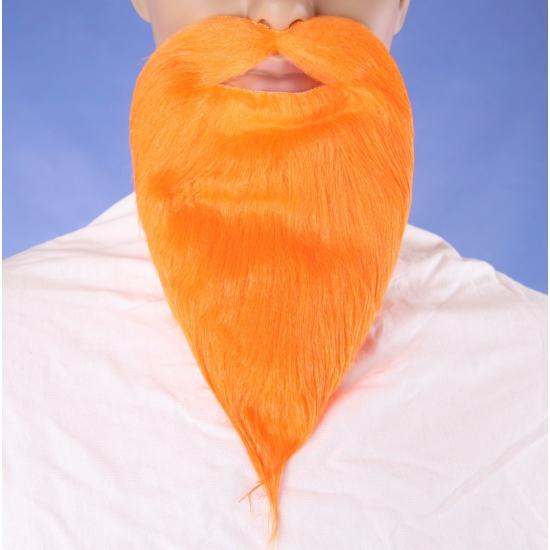 Oranje supporters baard