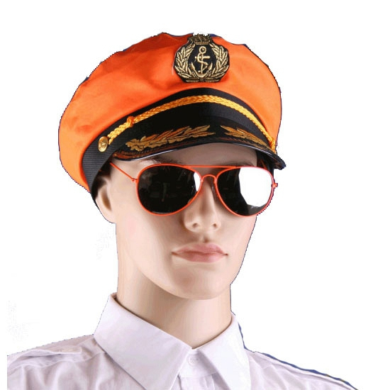 Oranje supporters piloten bril
