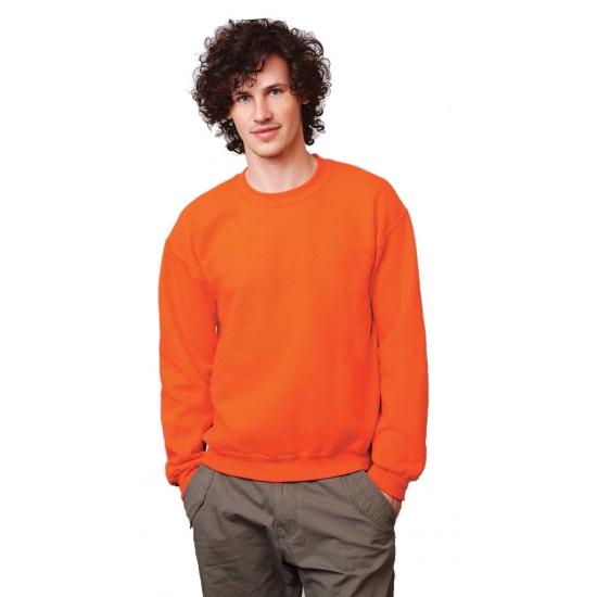 Oranje sweater met ronde hals