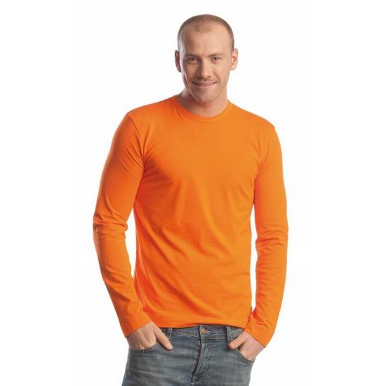 Oranje t shirt lange mouw