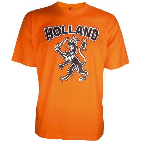 Oranje t shirt met leeuw
