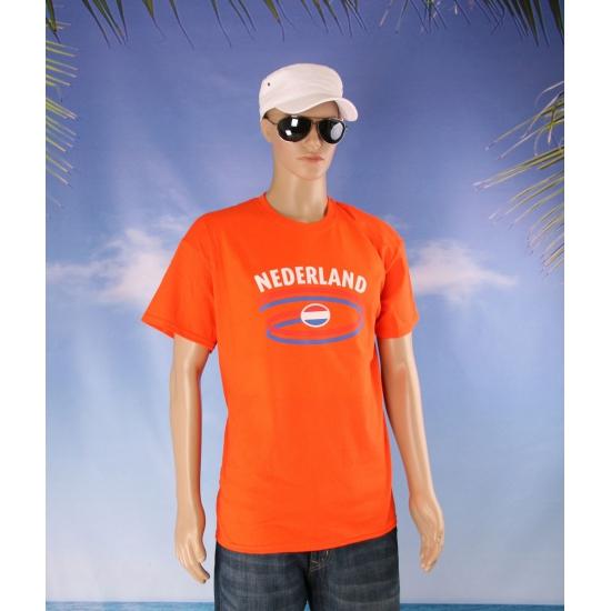 Oranje t shirt Nederland volwassenen