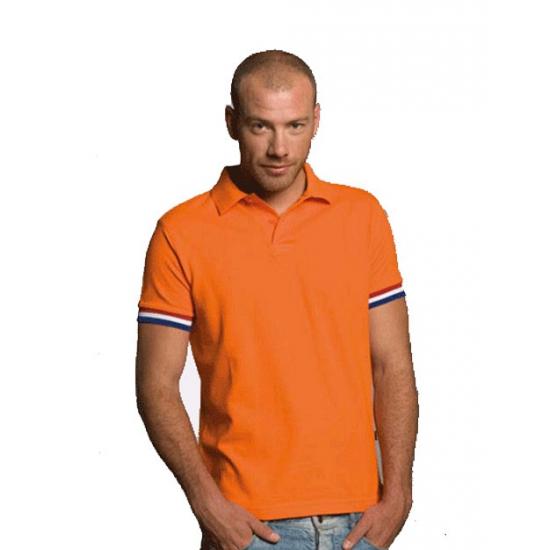 Oranje t shirt rood, wit, blauw