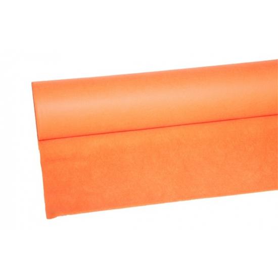 Oranje tafelkleed op rol 25 meter