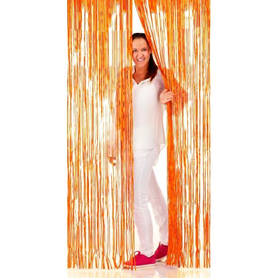 Oranje wanddecoratie 2 x 1 meter
