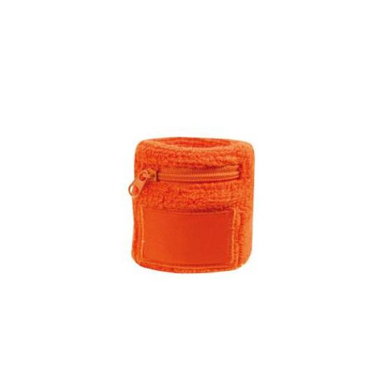 Oranje zweetbandje met rits