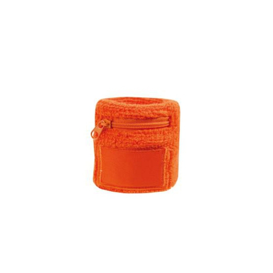 Oranje zweetbandjes met zakje