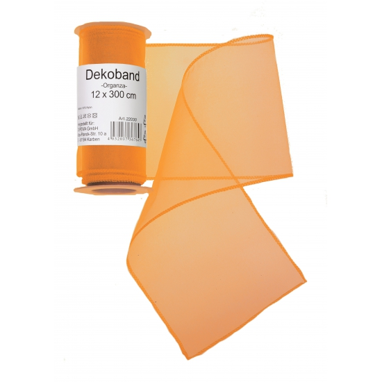 Organza rol oranje 12 x 300 cm