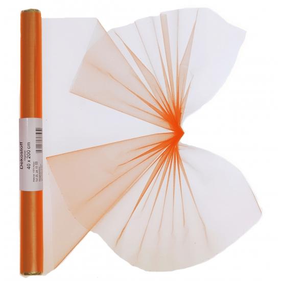 Organza strook oranje 40 x 200 cm