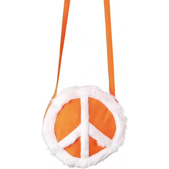 Peace tasje oranje