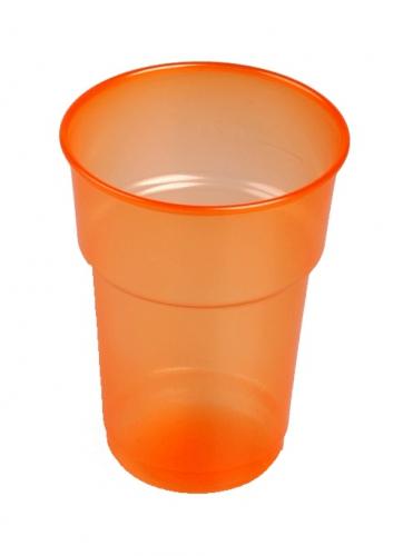 Plastic bekers oranje 75 stuks