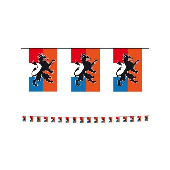 Plastic Holland vlaggenlijn met leeuw 10 meter