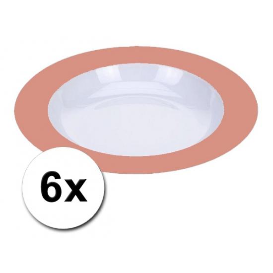 Plastic party borden oranje pakket 6 stuks