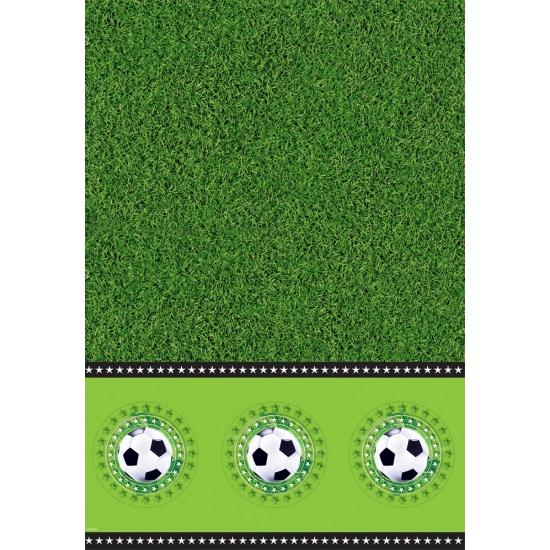 Plastic tafelkleed voetbal thema
