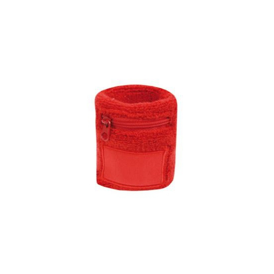 Polsbandje rood met rits vakje
