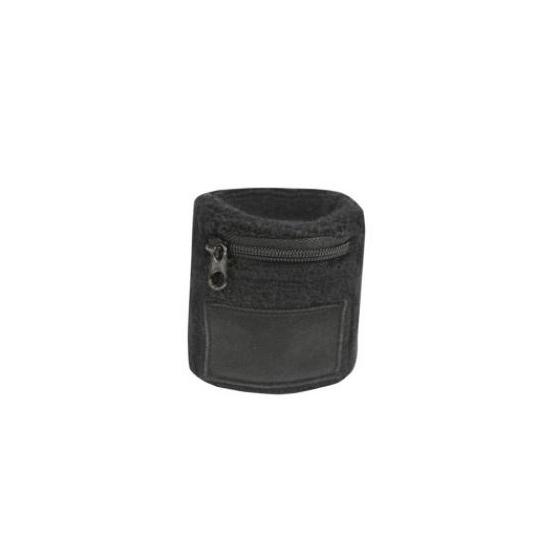 Polsbandje zwart met rits vakje