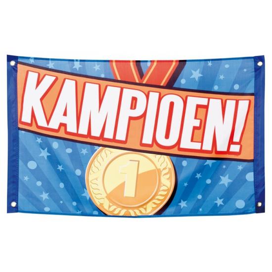 Polyester Kampioen vlag 60 x 90 cm