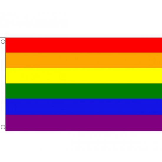 Polyester mega vlag Regenboog 150 x 240 cm